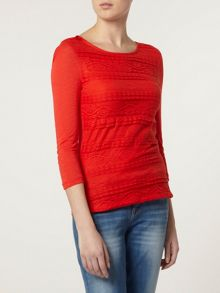 Frill Lace Front Top