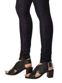 Leather Cross-Over Sandals