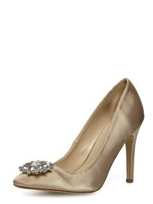 Embellished Pointed Court Shoe