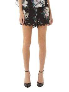 Rose Collection Lace Hem Short