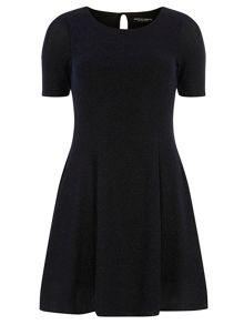 Lurex Fit and Flare Dress