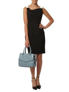 Petite Cowl Neck Pencil Dress