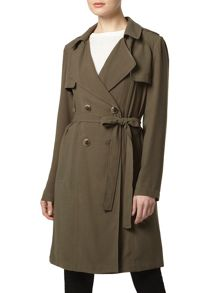 Crepe Trench Coat