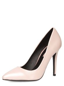 Pearlised Leather Look High Court Shoes