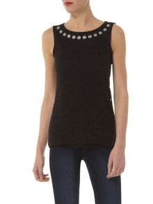 Jewel Lace Shell Top