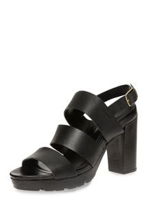 Leather Strappy Sandals