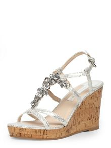 Bling High Cork Wedges