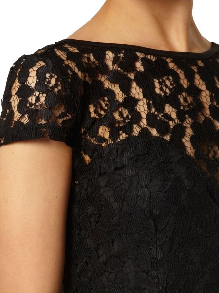Dorothy Perkins Lace Pencil Dress With Zip Back