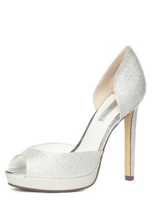 Glitter Peep Toe Court
