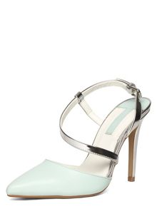 High Heel Open Back Pointed Courts