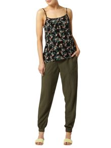 Ditsy Oriental Print Camisole Top