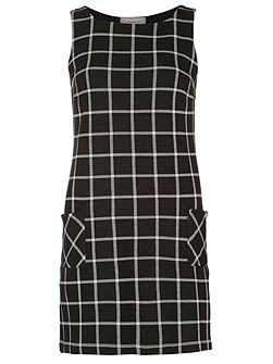 Petite Check Pinny Dress