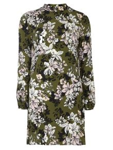 Petite Floral High Neck Shift