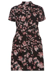 Petite Blossom Floral Shirt Dress