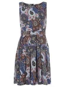 Pasiely Fit And Flare Dress