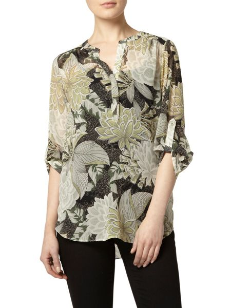 Dorothy Perkins Etchy Floral Print Shirt