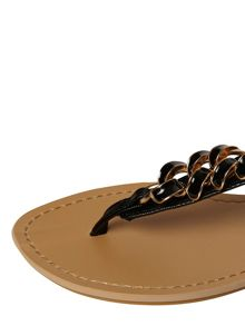 Flat Sandals With Chain Detail On Strap