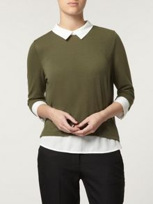 Petite 2 In 1 Shirt And Knit Top