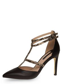 Snake Detail High Multi Strap Courts