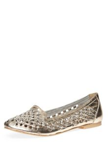Leather Weave Loafers