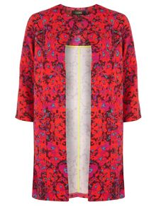 Luxe Floral Ottoman Duster Jacket
