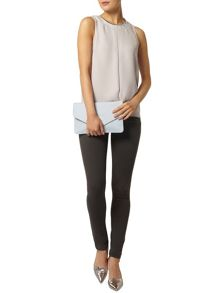 Embellished Pleat Front Top