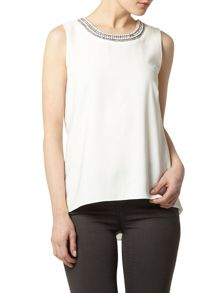 Embellished Wrap Back Top