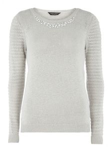 Dorothy Perkins Embellished Neck Jumper