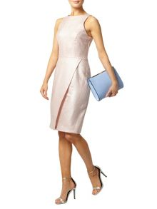 Shimmer Wrap Pencil Dress