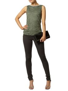 Bling Lace Shell Sleeveless Top