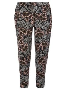 Paisley Printed Joggers With Channel Waist Detail