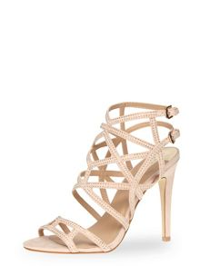 Caged Strappy High Sandals