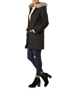 Dorothy Perkins Longline Panelled Puffa