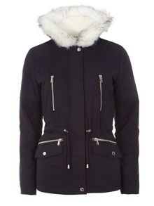 Dorothy Perkins Short Cotton Parka