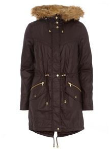 Luxe Coated Parka