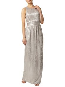 Metallic Plisse Maxi Dress