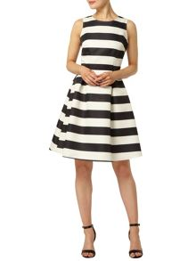 Luxe Stripe Structured Dress