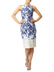 Placement printed pencil dress