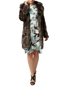 Longline Boyfriend Faux Fur Coat