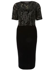 Dorothy Perkins Sequin 2-in-1 Dress