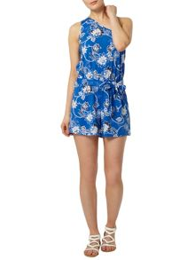 Floral One Shoulder Playsuit