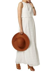 Broderie Double Layer Maxi Dress