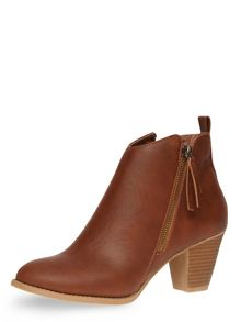 Dorothy Perkins Western Ankle Boots
