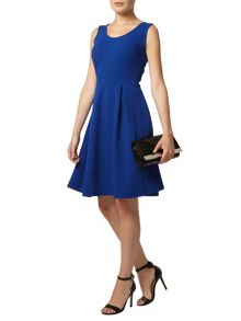Scoop Neck Fit and Flare Dress