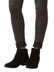 Western Suedette Ankle Boots