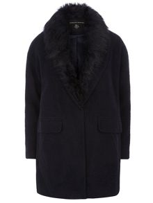 Fur Wool Boyfriend Jacket