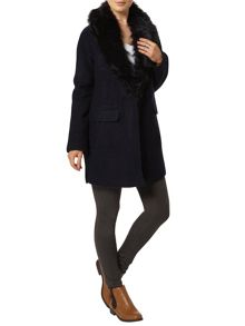 Dorothy Perkins Fur Wool Boyfriend Jacket