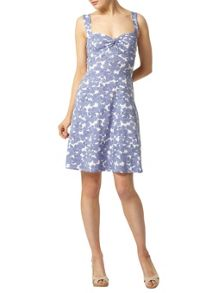 Chambray Floral Twist Sundress