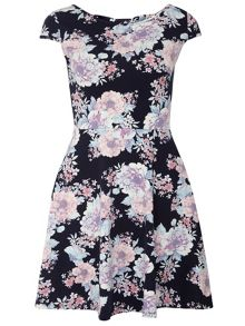 Floral Bow Back Dress