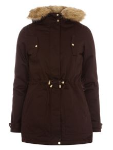 Dorothy Perkins Trim Cotton Parka Jacket